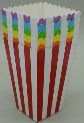 Popcorn Boxes Stripe Rainbow Colours Party Birthday Wedding *UK SELLER*  • 2.99£