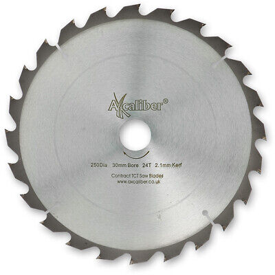 £19.68 • Buy Axcaliber Contract TCT Saw Blade Thin Kerf 250mm X 2.1mm X 30mm 24T