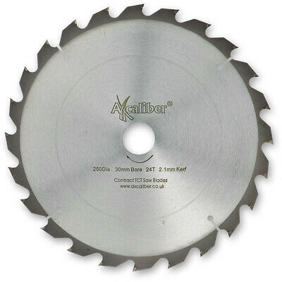 £18.58 • Buy Axcaliber Contract TCT Saw Blade Thin Kerf - 250mm X 2.1mm X 30mm 24T