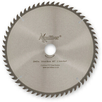 £28.78 • Buy Axcaliber Contract TCT Thin Kerf Saw Blade - 254mm X 2.1mm X 30mm T60