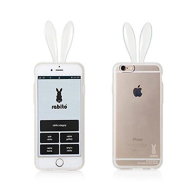Rabito Bunny Rabbit Ear IPhone 6S 6 Transparent Clear Changeable Skin Cover Case • 16.23£