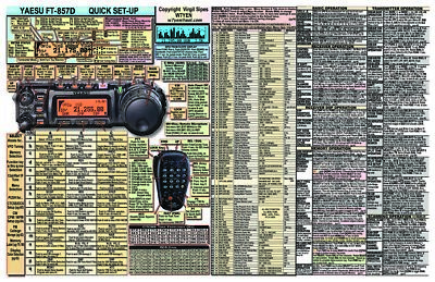 AU21.97 • Buy Yaesu Ft-857d Ft-857 Amateur Ham Radio Datachart Graphic Information Ext Lg