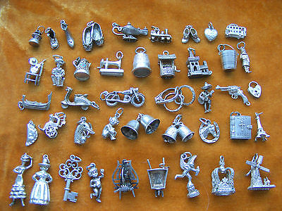 H Vintage Sterling Silver Charm Bells Scooter Gun Bike Pasty Pixie Bus Boot Eros • 4.99£