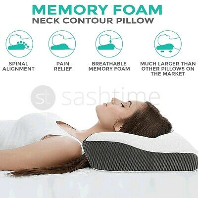 Contour Memory Foam Pillow Neck Back Support Orthopaedic Firm Head My Pillows • 17.95£