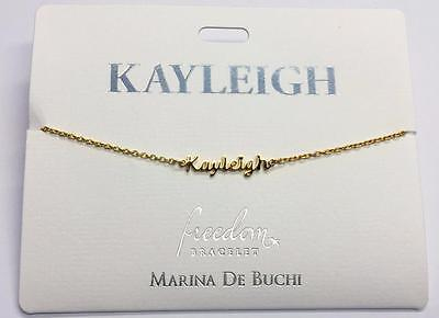 Personalised Name Chain Bracelets Gold Plated  L - P • 4.99£