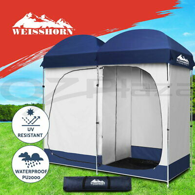 AU79.90 • Buy Weisshorn Double Camping Shower Toilet Tent Outdoor Portable Change Room Ensuite
