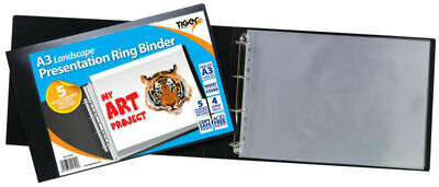 6 X A3 Landscape Presentation Ringbinders - Ring Binder Art Potfolio File Folder • 49.99£