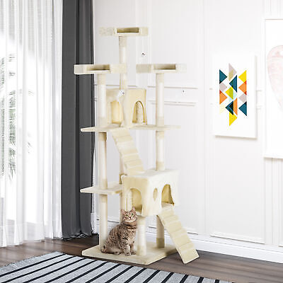 Condo Furniture Scratcher Post Pet Cat Tree Kitten Bed House Play Toy Ladder • 48.99£