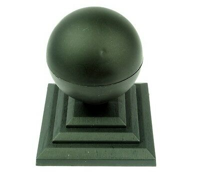 £13 • Buy Linic 6 X Black Round Sphere Fence Top Finial + 4  Fence Post Cap UK Made GT0034