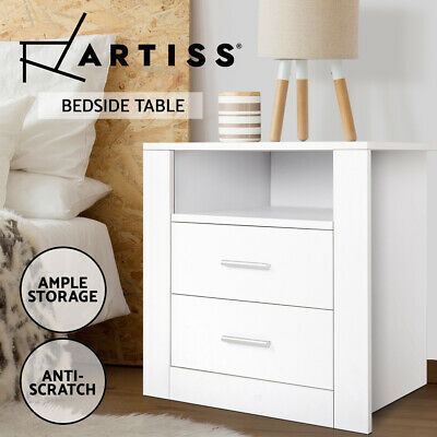 AU89.95 • Buy Artiss Bedside Tables Drawers Storage Cabinet Drawers Side Table White
