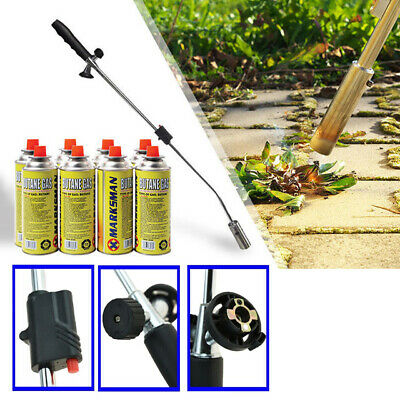 £17.90 • Buy Weed Wand + 4 Butane Gas Canisters Blowtorch Garden Torch Weeds Killer Burner