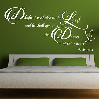 Bible Quote Vinyl Wall Art Stickers Christian God Religious Decals B4 • 21.99£