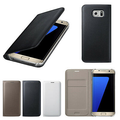 $ CDN10.52 • Buy For SAMSUNG GALAXY S7 EDGE - PU Leather Flip Pouch Card Slot Holder Case Cover