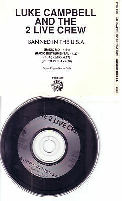 $ CDN20.10 • Buy 2 Live Crew LUKE CAMPBELL Banned INSTRUMENTAL & PERCAPELLA & MIX PROMO CD Single