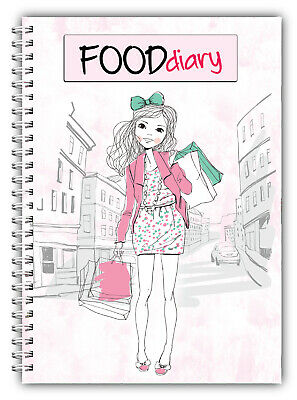 Diet Food Diary Slimming Tracker Food Weight Loss Dieting Journal Running SP • 6.07£