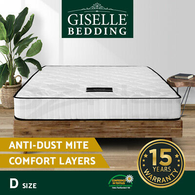 AU149.90 • Buy Giselle Bedding DOUBLE Size Bed Mattress Pocket Spring Tight Top Foam 21CM