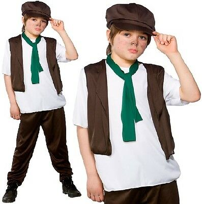 £13.99 • Buy Childrens Boys Poor Victorian Boy Fancy Dress Costume Childs Outfit By Wicked