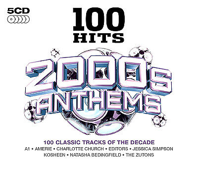 £9.45 • Buy 100 GREATEST HITS 2000's ANTHEMS NEW SEALED 5CD BOX SET In Stock Now, Gift Idea.