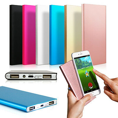 View Details Ultra Thin 20000mAh Portable External Battery Charger Power Bank For Cell Phone • 9.99$
