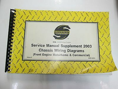 workhorse custom chassis service manual supplement chassis wiring diagrams  vol 8 • 103 99$