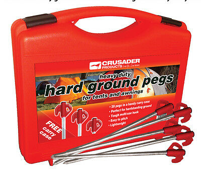 £13.95 • Buy Crusader Heavy Duty  Hard Ground Pro Tent & Awning Peg Rock Pegs