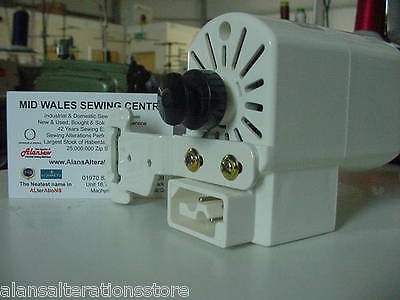 SEWING MACHINE 120w CLOCKWISE MOTOR ONLY . NO LEADS, PEDAL OR PLUGS SUPPLIED • 42.95£