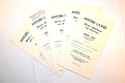 £8.90 • Buy 5 PC Myford Lathe Stands Attachments 1963 & 1964 PRICE LSIT GROUP #RR504