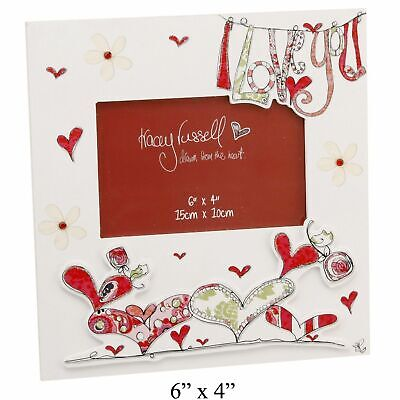 Tracey Russell MDF 'I Love You' Photo Frame - Valentine's Day Gift Keepsake • 9.99£