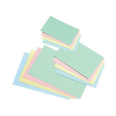 £3.99 • Buy Pack Of 100 Record Cards - Revision Index Reading (Plain, Coloured, Ruled)