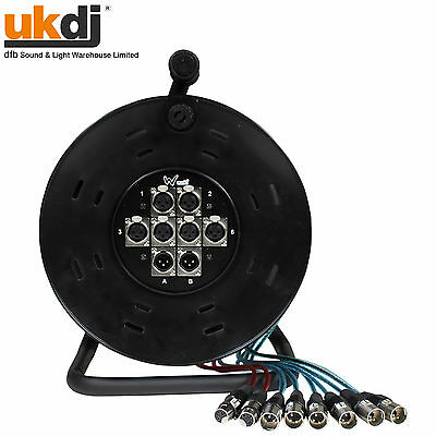 W Audio XLR Multicore Drum / Snake 6/2 6 Inputs & 2 Returns 25m 82ft • 74.99£