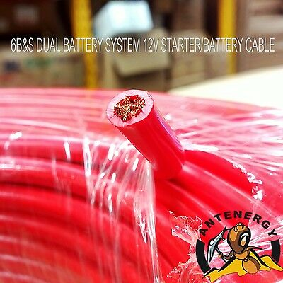 AU44.47 • Buy 6 B&s Single Core Cable Dual Battery System 12v  6 Metres Red Cover 6bs Bs New