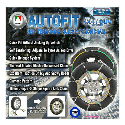 AU248.95 • Buy Snow Chain Kit For SUV 4x4 4WD 305/70 & 315/75 X 16 All Terrain Mud Tyres CA510