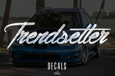 $3.75 • Buy Trendsetter Decal Sticker - Illest Lowered JDM Stance Low Slammed