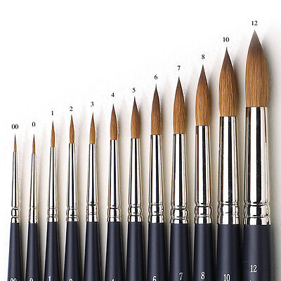 Winsor & Newton Artists Pure Sable Round Single Brushes For Watercolour Paint • 14.50£