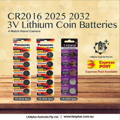 AU3.29 • Buy 5X 10X 20X 50X 100X CR2016 CR2025 CR2032 3V Lithium Batteries STOCK IN Melbour
