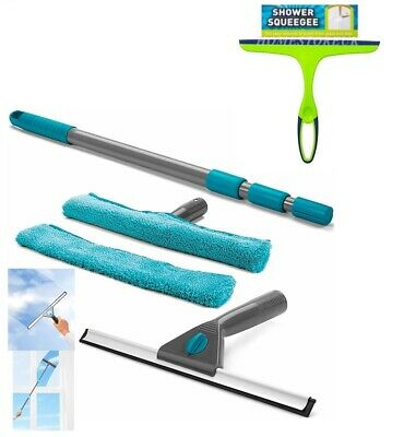 Squeegee OR Telescopic Shower Window Wiper Glass Rubber Screen Tile Cleaner Kit • 2.99£