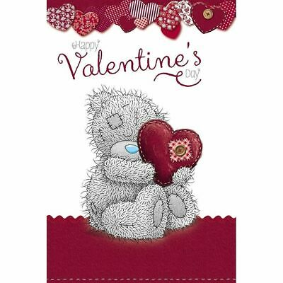 £4.30 • Buy Me To You Happy Valentines Day Bear Hugging Heart Pillow Greeting Card New Love