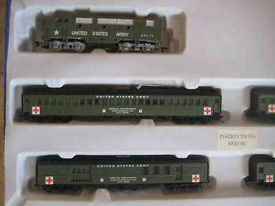 $299.99 • Buy Us Army Military Train Set F3 A Loco And 4 Passenger Cars-dcc/dc/sx Sound Traxx