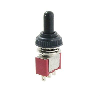 2Pcs ON/OFF/ON Momentary 3Position SPDT 3Pins Toggle Switch With Waterproof Boot • 1.90$