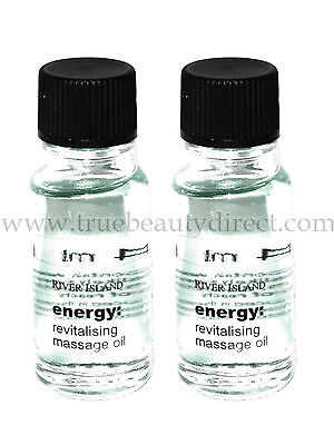 2 X RIVER ISLAND ENERGY REVITALISING MASSAGE OIL SEE MORE BARGAINS IN OUR SHOP • 0.99£