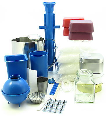 Complete Candle Making Kit ~ Moulds, Votive, Jug, 2.5Kg Wax Makes 50 Candles • 44.99£