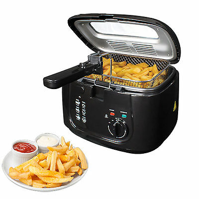 £29.94 • Buy 2.5L Electric Deep Fat Chip Fryer Non Stick Pan & Safe Basket Handle With Window