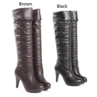£36.44 • Buy Ladies Womens Platform High Heel Knee High Riding Boots Party Shoes UK Plus Size