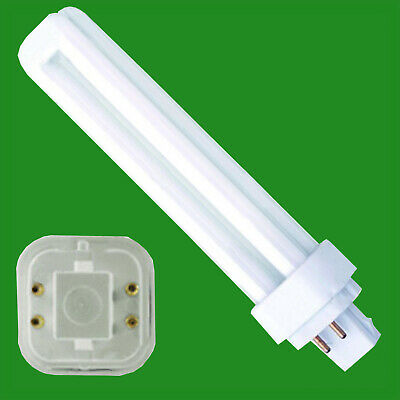 4x 13W G24q-1, 4 Pin, Low Energy CFL BLD Double Turn Light Bulb Cool White Lamp • 9.49£