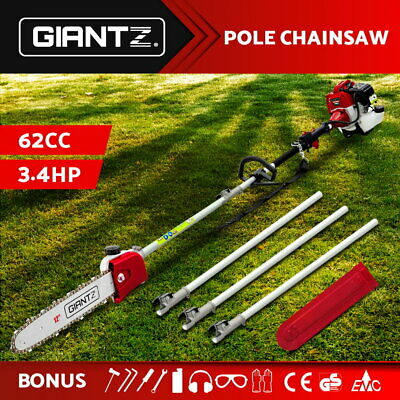 AU149.95 • Buy Giantz 62CC Pole Chainsaw Petrol Chain Saw Brush Cutter Brushcutter Tree