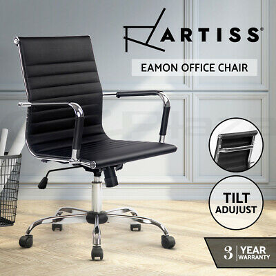 AU139.95 • Buy Artiss Office Chair Gaming Chair Computer Chairs Home Work Study Seat Black