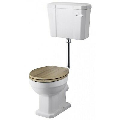 Nuie Carlton Low Level Toilet Lever Cistern Excluding Seat CP Flushpipe • 122.95£