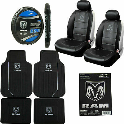 $128.95 • Buy New 12pcs Dodge RAM Logo Car Truck Seat Covers Floor Mats Steering Wheel Cover