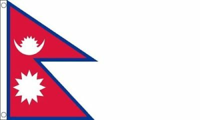 £5.98 • Buy Nepal Flag 5 X 3 FT 100% Polyester With Eyelets National Country IE