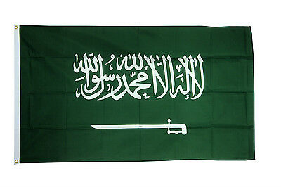 £5.98 • Buy Saudi Arabia Flag 5 X 3 FT 100% Polyester W Eyelets National Country IE